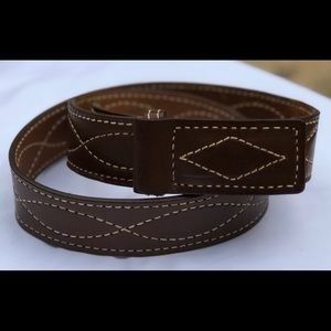 VTG USA Leather Belt, Made in SF, Size 36